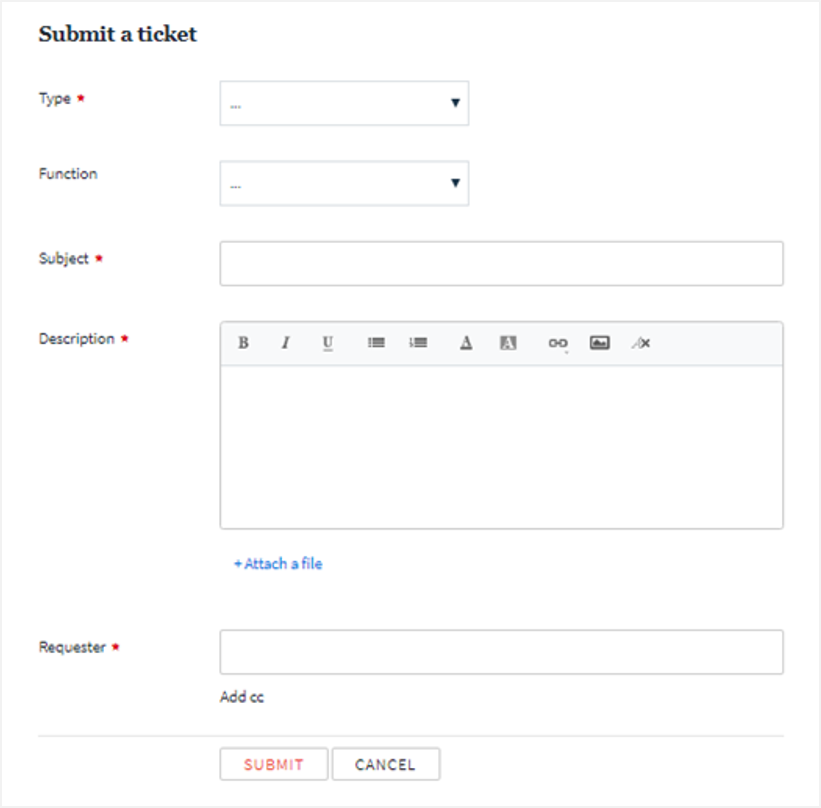 support portal submit ticket